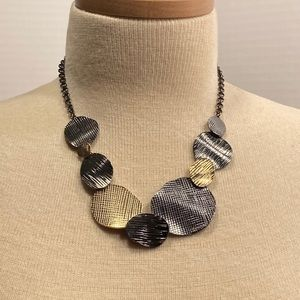 Erica Lyons Multi-Tones Metal Disk Necklace